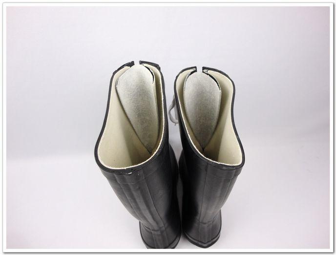 中筒黑色前鞋带款[雨鞋雨靴女时尚水鞋]